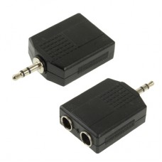 2 x 6.5 mm - 1 x 3.5 mm audio adapter
