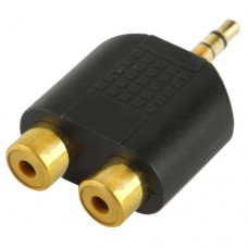 2 x RCA - 1 x 3.5 mm audio adapter